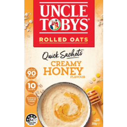 Photo of Uncle Tobys Oats Creamy Honey Quick Sachets 10 Pack 350g