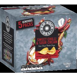 Photo of Red Rock Deli Sweet Chilli & Sour Cream Potato Chips 5x28g