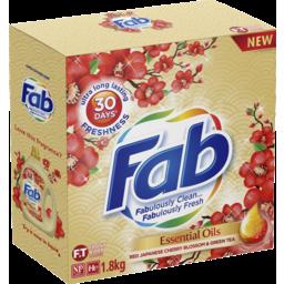 Photo of Fab Essential Oils Cherry Blossom, Powder Laundry Washing Detergent, 1.8kg