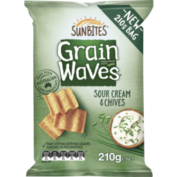 Photo of Sunbites Grain Waves Sour Cream & Chives 210gm