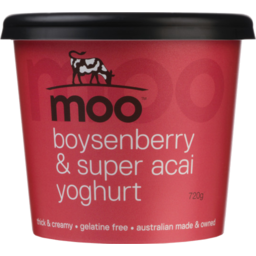 Photo of Moo Boysenberry & Super Acai Yoghurt 720g