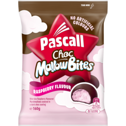 Photo of Pascall Choc Marshmallow Bites Raspberry Lollies 160g