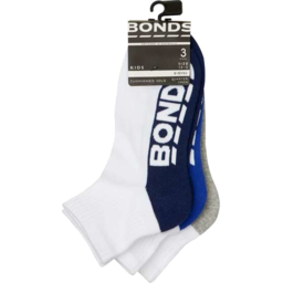 Photo of Bonds Kids Quarter Crew Socks Size 13-3 3 Pack