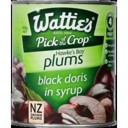 Photo of Watties Black Doris Plums In Syrup 850g