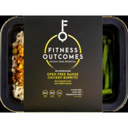 Photo of Fitness Outcomes Open Free Range Chicken Burrito 350gm