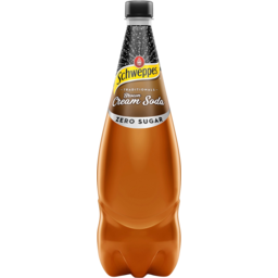 Photo of Schweppes Traditionals Zero Sugar Brown Cream Soda Bottle 1.1l