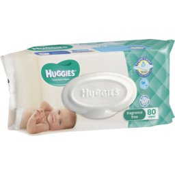 Photo of Huggies Baby Wipes Fragrance Free Refill 80pk
