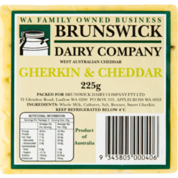 Photo of Brunswick Gherkin Cheddar 225g