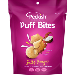 Photo of Peckish Salt & Vinegar Puff Bites 80g