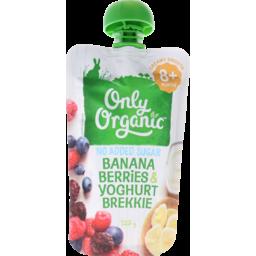Photo of Only Organic Baby Dessert Banana Berries & Yoghurt 9+ Months 120g