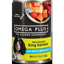 Photo of Omega Plus Salmon, Beef & Rice 375g