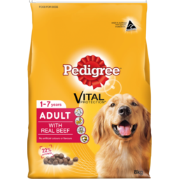 Photo of Pedigree Dry Dog Food, Meaty Bites Beef 8kg