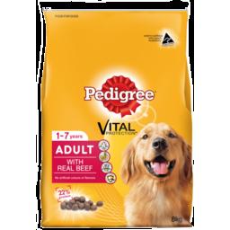 Photo of Pedigree Dry Dog Food, Meaty Bites Beef 8kg
