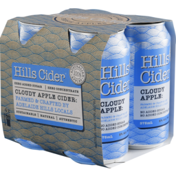 Photo of Hills Cider Cloudy Apple Cans - 24 X 330ml