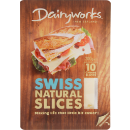 Photo of Dairy Works Cheese Slices Swiss 10 Pack