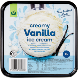 Photo of WW Ice Cream Vanilla 2L