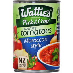 Photo of Watties Tomato Flavoured Moroccan 400g