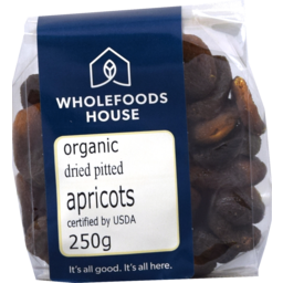Photo of Wholefoods House Dried Apricots Turkish Organic 250g