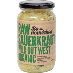 Photo of Be Nourished Raw Sauerkraut Wild Out West 380gm