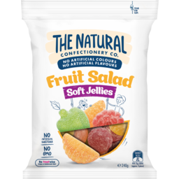 Photo of The Natural Confectionery Co. Fruit Salad Soft Jellies 240g