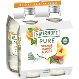 Photo of Smirnoff Pure Orange Mango Soda 4.5% 4x300ml