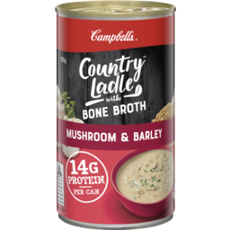Photo of Campbell's Country Ladle Soup Mushroom & Barley With Beef Bone Broth 505g