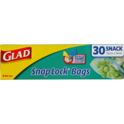 Photo of Glad Snap Lock Bags Snack 30 Pack