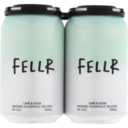 Photo of Fellr Brewed Alcoholic Seltzer Lime & Soda Can