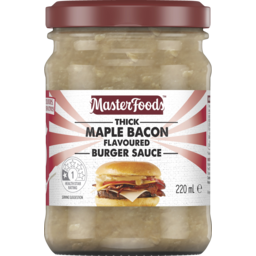 Photo of Masterfoods Thick Maple Bacon Burger Sauce 220ml