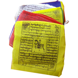 Photo of INCENSE OF THE WORLD Tibetan Hand Print Prayer Flag Tiny