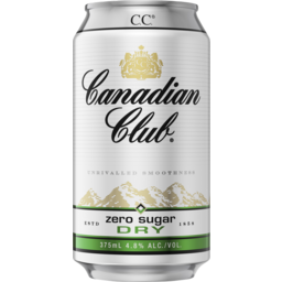 Photo of Canadian Club & Dry Zero Can
