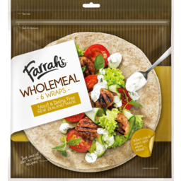 Photo of Farrahs Wraps Wholemeal 6 Pack
