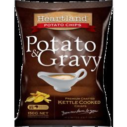 Photo of Heartland Kettle Chips Potato & Gravy 150g