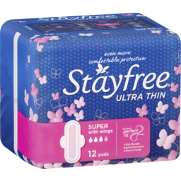 Photo of Stayfree Ultra Thin Super With Wings 12 Pack