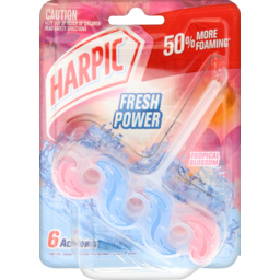 Photo of Harpic Fresh Power 6 In Toilet Bowl Cleaner Tropical Blossom 39