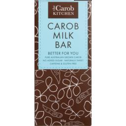 Photo of THE CAROB KITCHEN Carob Kitchen Carob Milk Chocolate Bar 80g