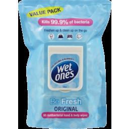 Photo of Wet Ones Antibacterial Hand Wipes Be Fresh 80