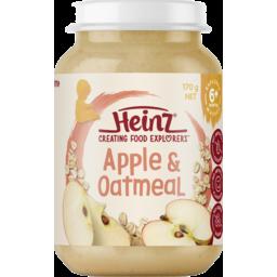 Photo of Heinz® Apple & Oatmeal Baby Food Jar 6+ Months 170g
