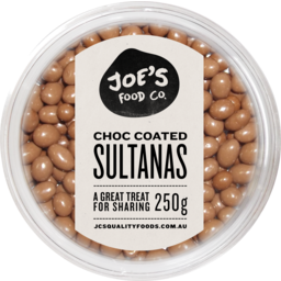 Photo of Joes Chocolate Sultanas 250gm
