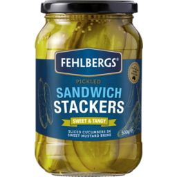 Photo of Fehlbergs Pickled Cucumber Sandwich Stackers 500g