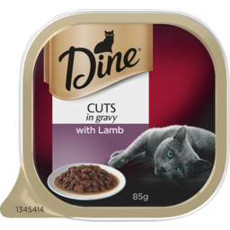 Photo of Dine Cat Food Slow Cooked Lamb Morsels 85g