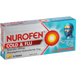 Photo of Nurofen Tablets Cold & Flu PE 200mg 24 Pack