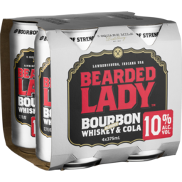 Photo of Bearded Lady & Cola 10% 375ml 4pk