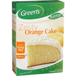 Photo of Greens Zesty Orange Cake Mix 470g