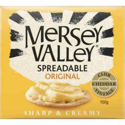 Photo of Mersey Valley Spreadable Original Vintage Club Cheddar 150gm