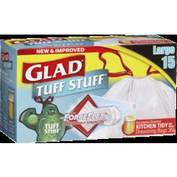 Photo of Glad Kitchen Tidy Tuff Stuff Bags Large 15pk