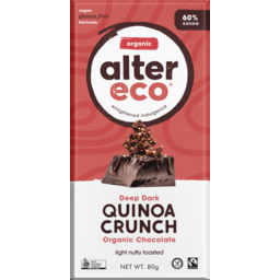 Photo of Dark Quinoa 60% Chocolate 80g