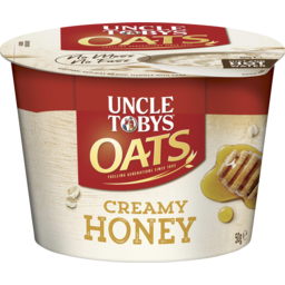 Photo of Uncle Tobys Oats Quick Inst Creamy Honey Cup 50g