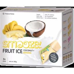 Photo of Smooze Banana Coconut Fruit Ice 8 x 65ml