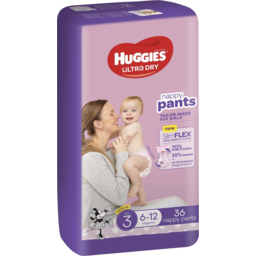 Photo of Huggies Ultra Dry Nappy Pants Girl Size 3 (6-12kg) 36 Pack